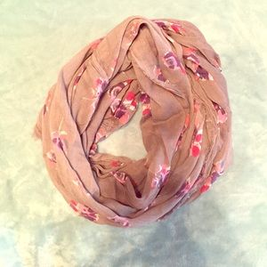 Accessories - Flower printed infinity scarf